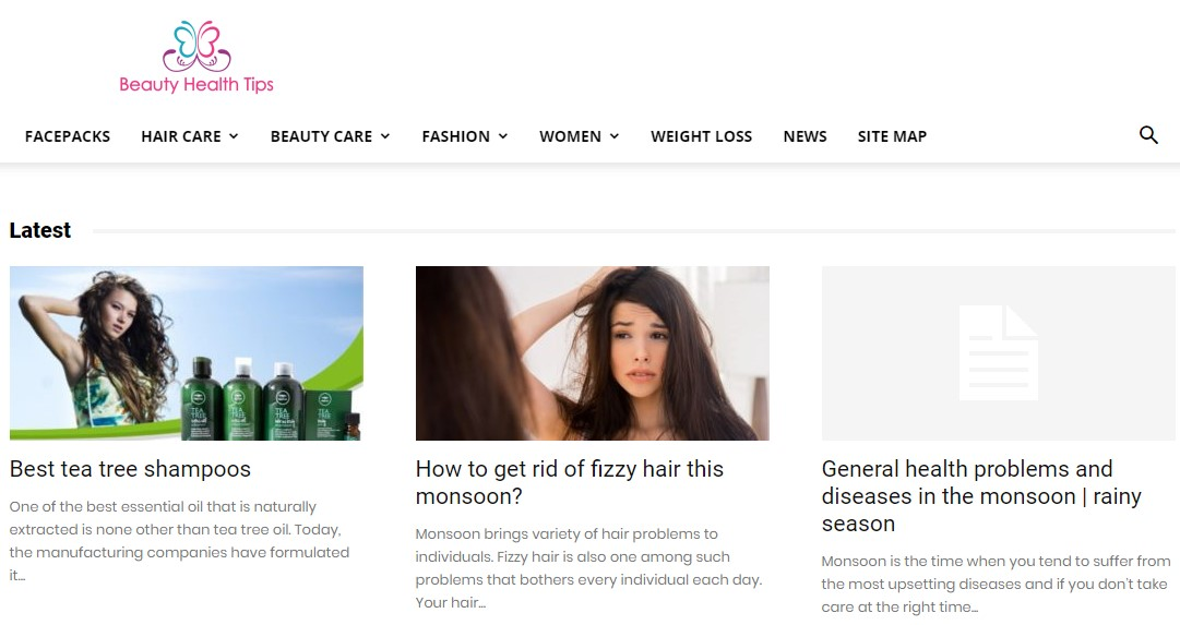 Beauty Health Tips Blog