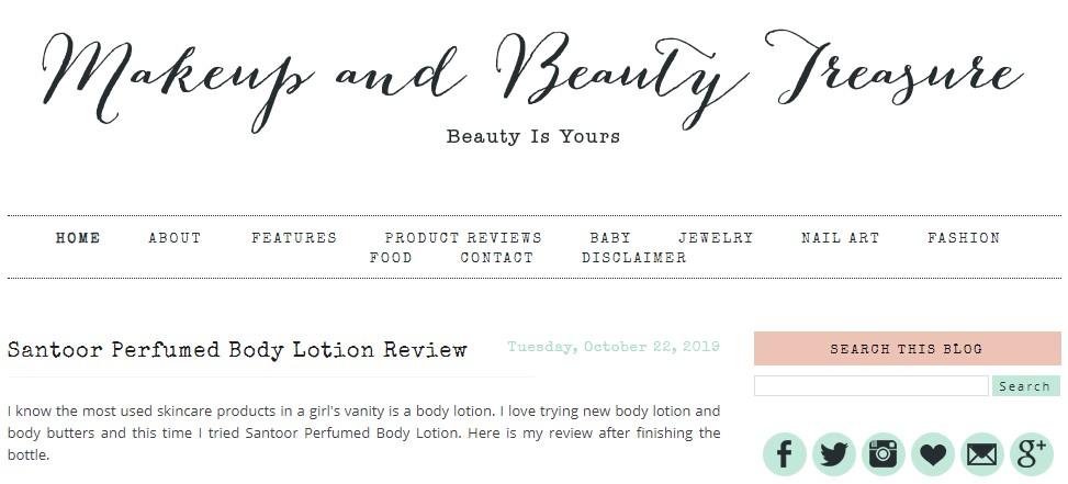 MakeUp And Beauty Treasure Blog