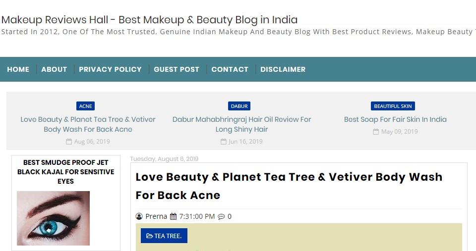 Makeup Reviews Hall