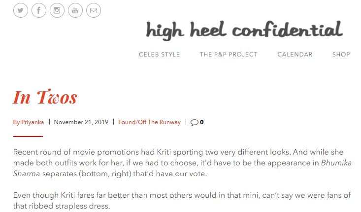 Bollywood Blog - High Heel Confidential