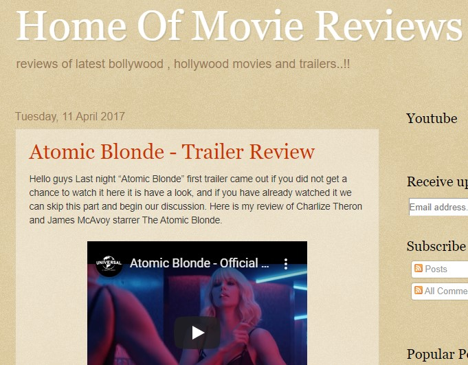 home of movie reviews