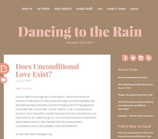 Dancing to the Rain