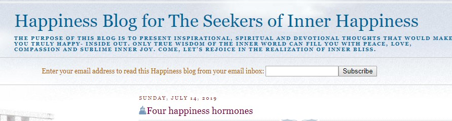 spiritual happiness blog