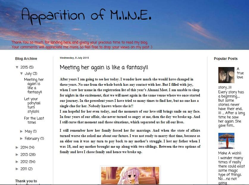 Apparition of M.I.N.E.