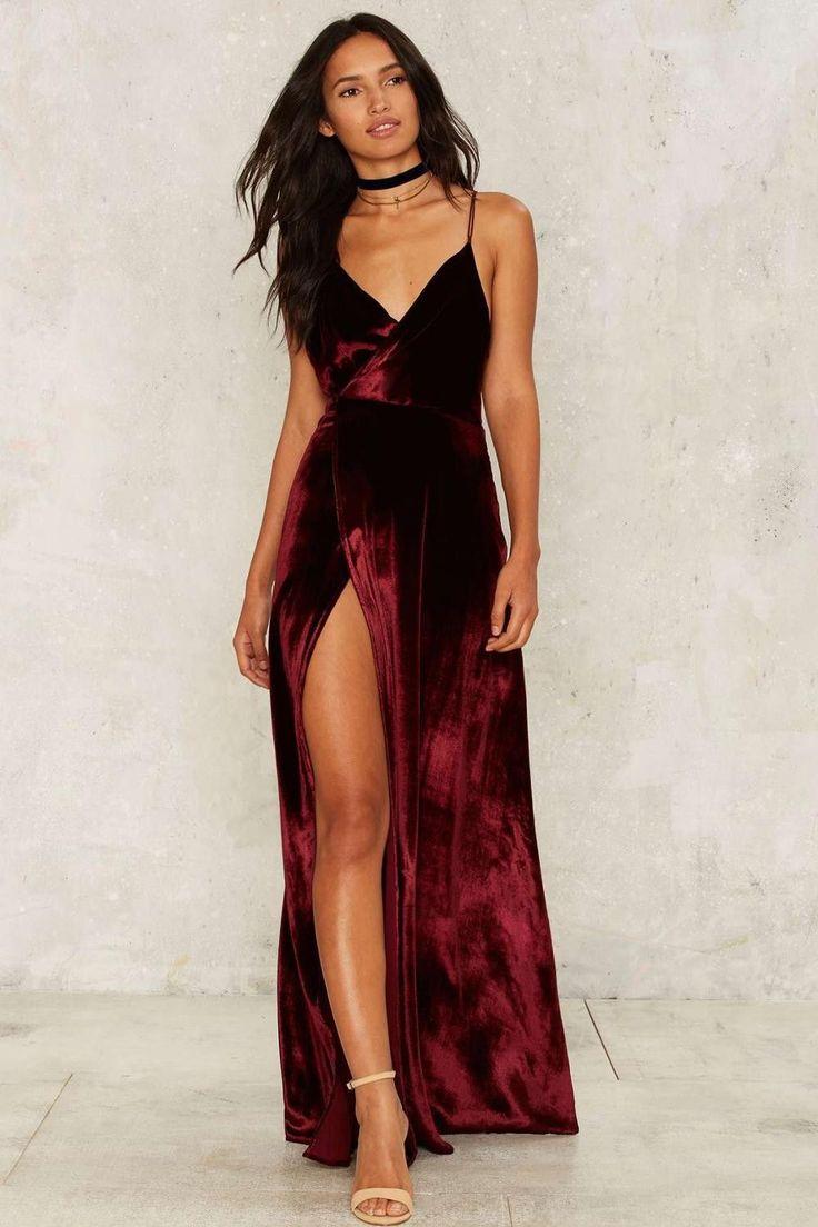 A Slit Dress