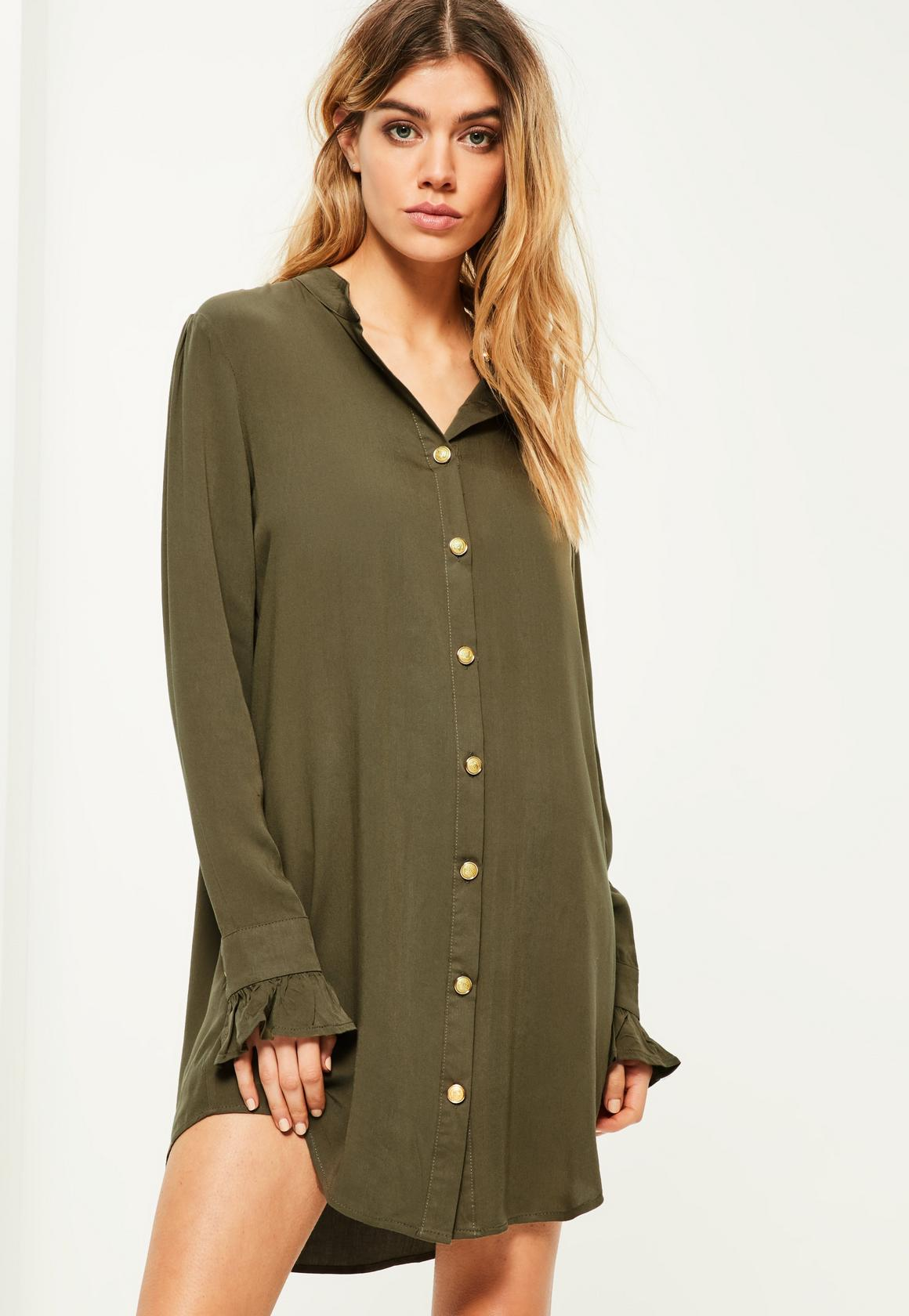 Long Sleeve Flowy Shirt Dress Joe Maloy