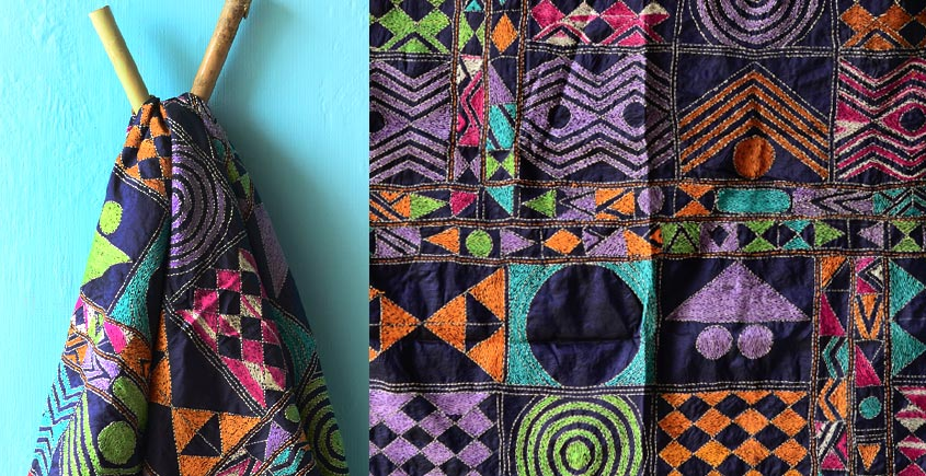 Kantha Embroidered