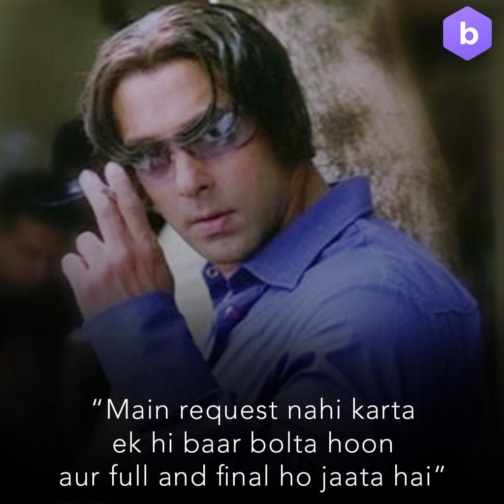 Salman Khan Radhe Bhaiya Tere Naam Dialogue