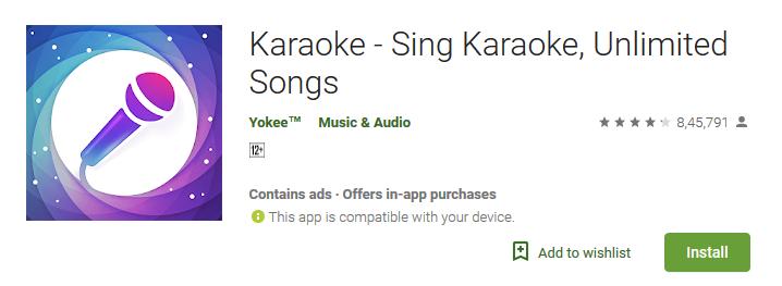 Karaoke - Sing Karaoke, Unlimited Songs Best Karaoke App for Android