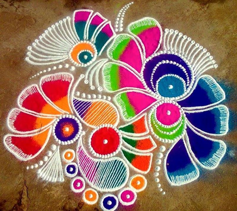 Makar Sankranti Rangoli Design