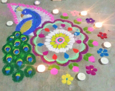 Makar Sankranti Rangoli Design and Wishes