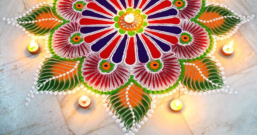 Rangoli Design for Makar Sankranti