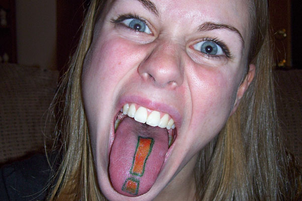 tongue tattoo designs for women