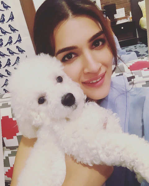 Kriti Sanon Family Pet Dog