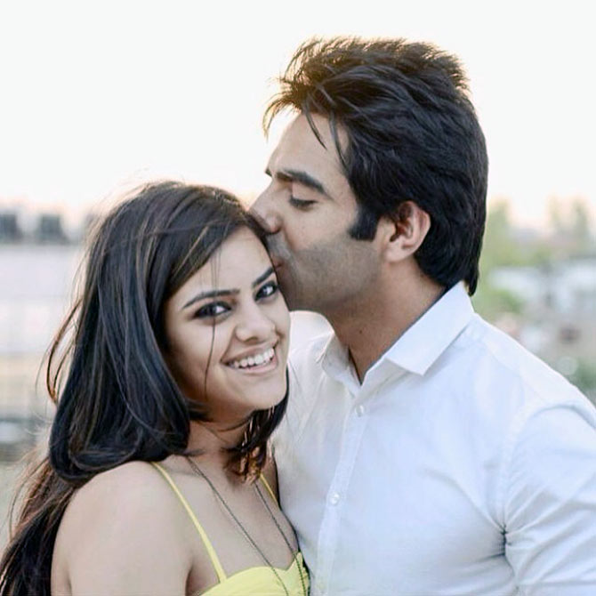 Aparshakti Khurana girlfriend Aakriti Ahuja who later became his wife.