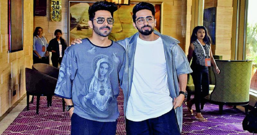 Aparshakti Khurana and Ayushmann Khurana Standing Together