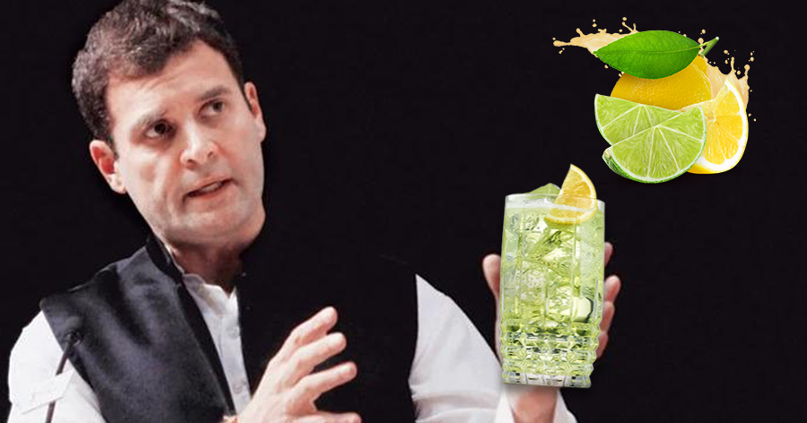 Rahul Gandhi explains Health benefits of Lemon