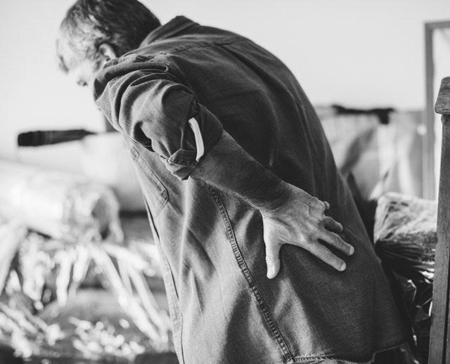 Back pain cure with meditatiton yoga