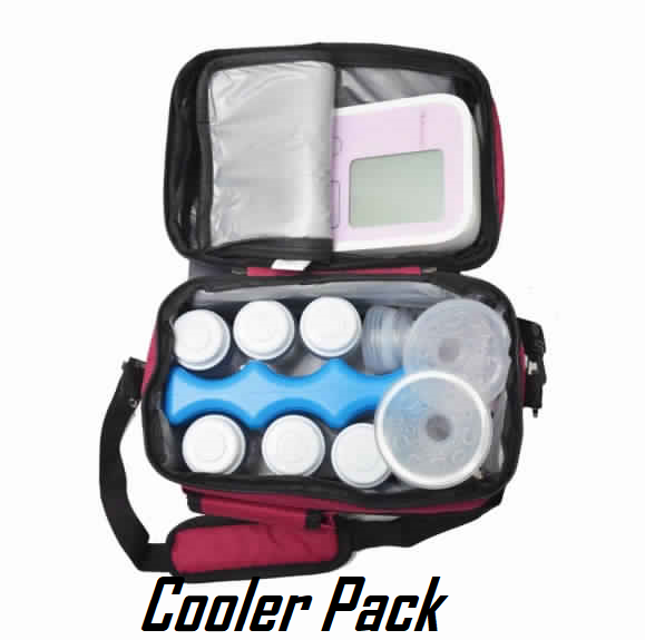 Cooler Pack and bags for breast milk