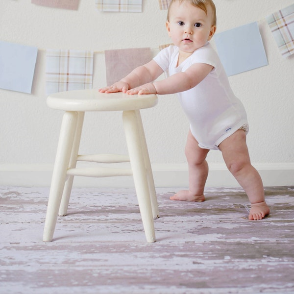 Healthy baby standing