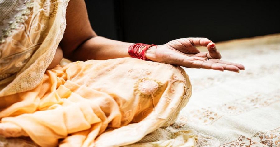 Indian Meditation Woman