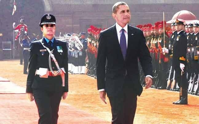 IAF Pooja Thakur Guard of Honour Barack Obama