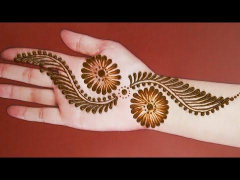 Front hand Mehndi Design 11