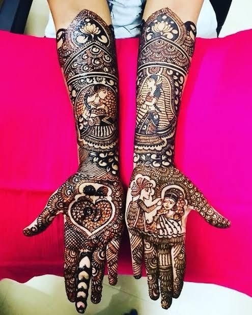 Front hand Mehndi Design 5