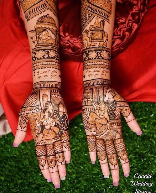 Front hand Mehndi Design 1