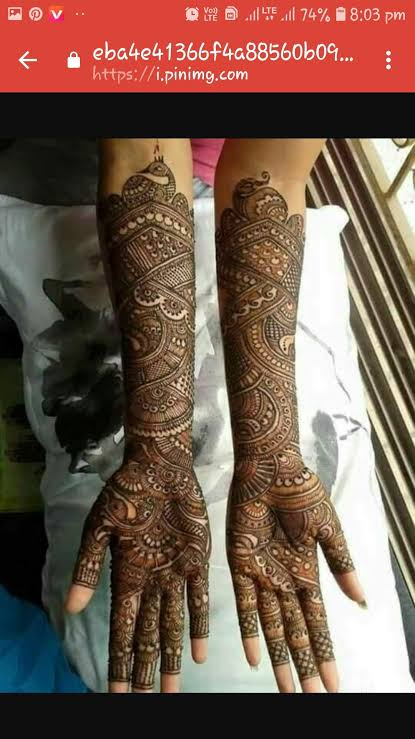 Front hand Mehndi Design 2