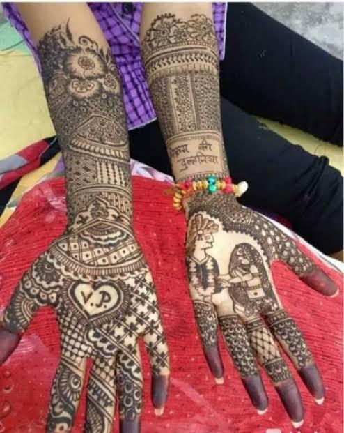 Front hand Mehndi Design 35