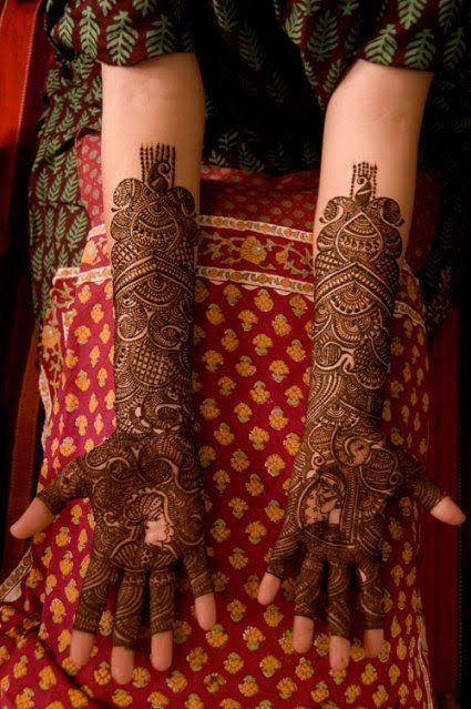 Front hand Mehndi Design 33