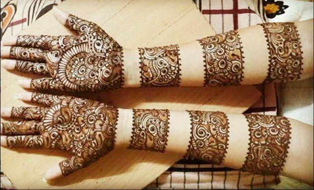 Front hand Mehndi Design 22
