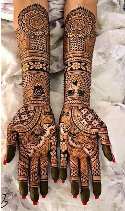 Front hand Mehndi Design 18