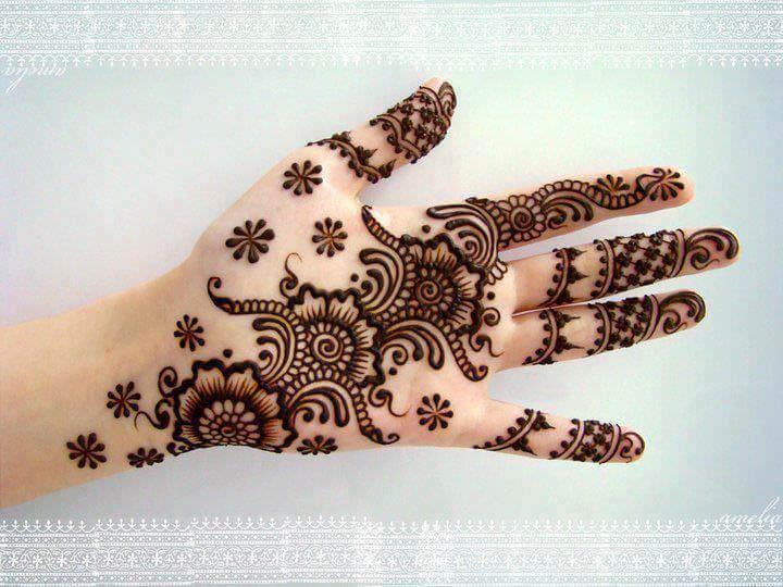 Front hand Mehndi Design 17