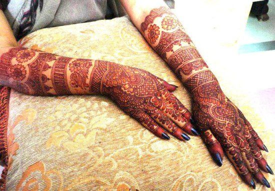 Half Hand Kangan Mehndi Designs Baggout