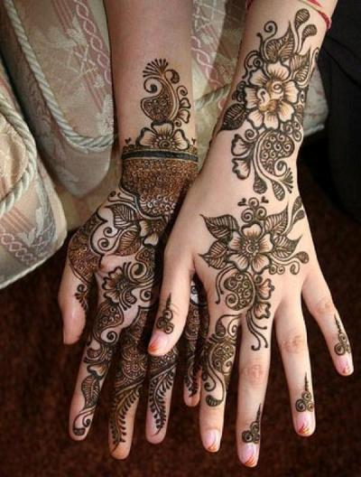 Front back Kangan Mehndi Designs