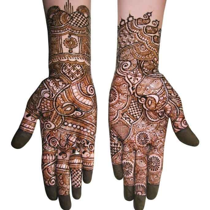 Full hand Kangan Mehndi Designs