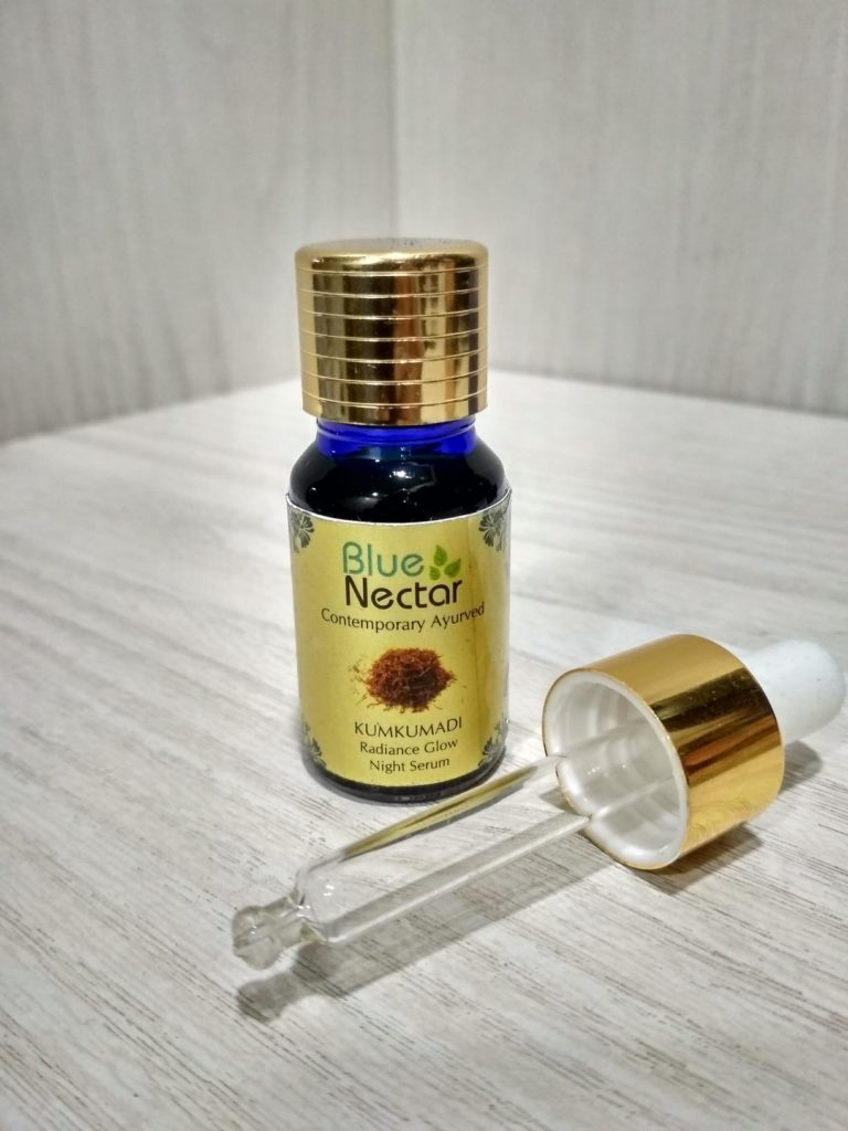 Blue Nectar Kumkumadi Ayurvedic Radiance Glow Night Serum