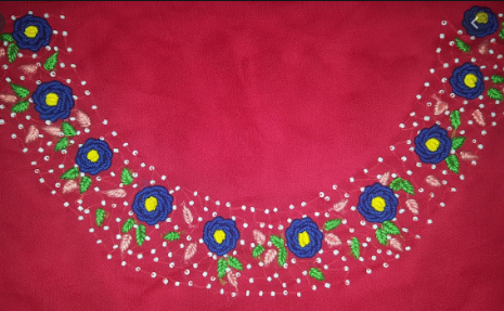 Embroidered Neck Design
