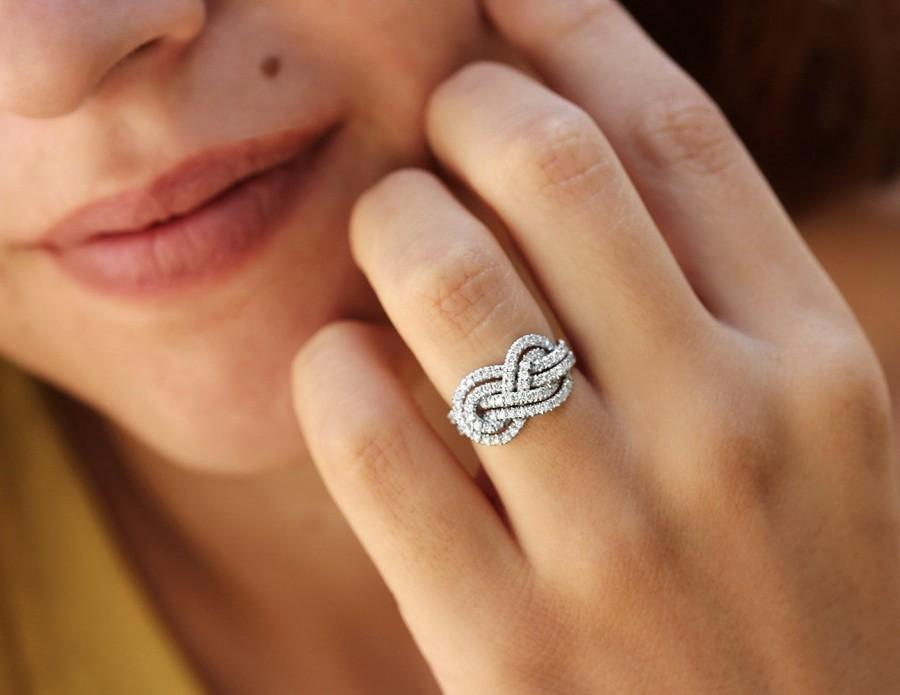 Knot Shaped Ring