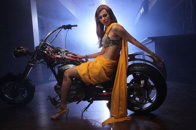 Jasleen Matharu on Bike