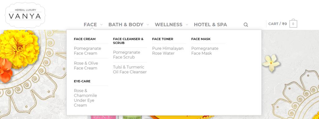 Vanya Herbal Luxury Products