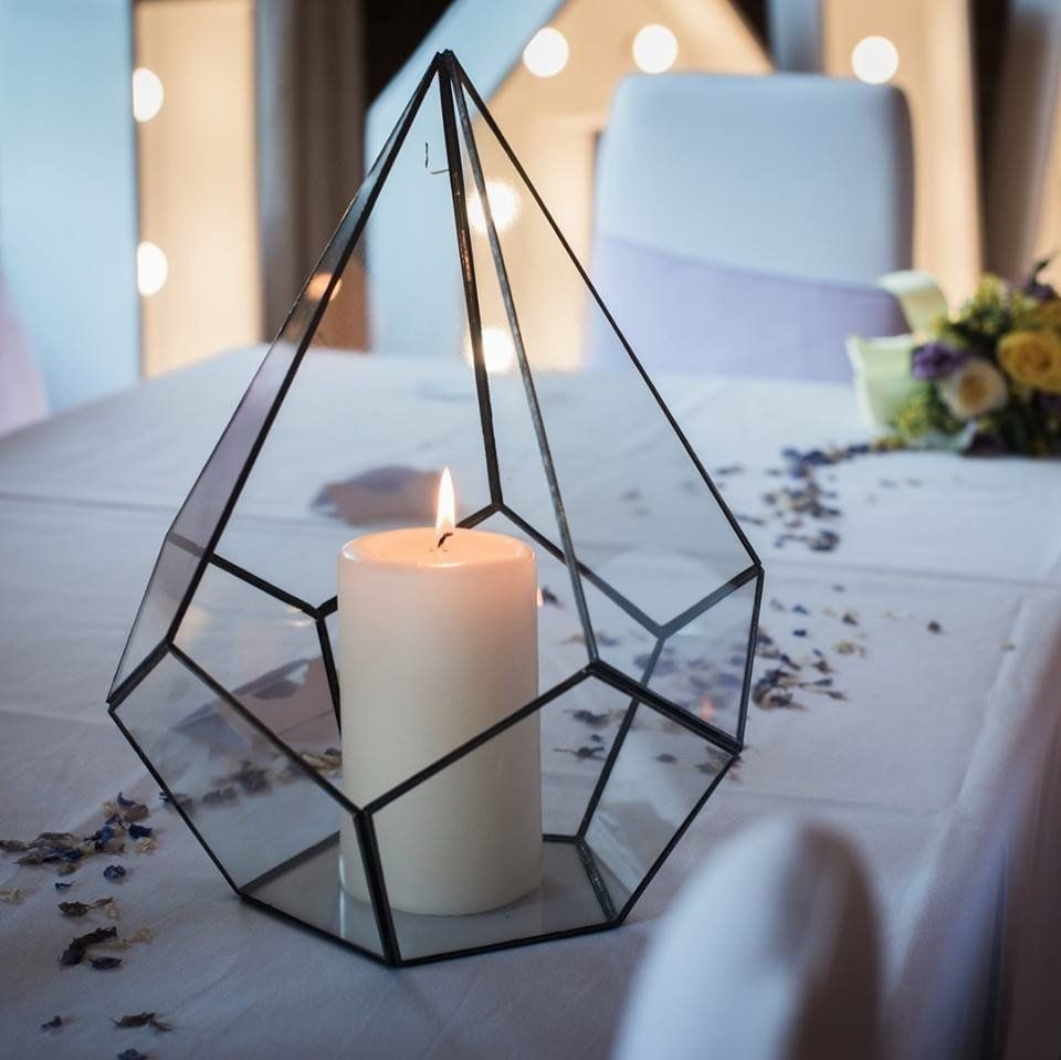 Decoration With Candles Using Terrariums