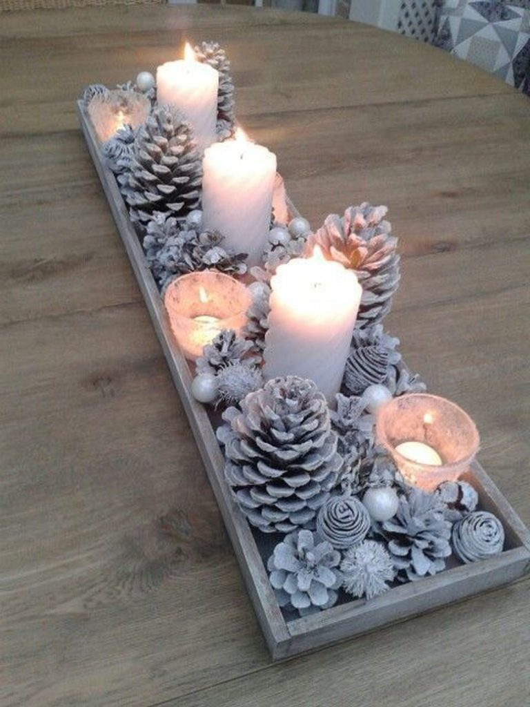 Decoration With Candles as Centrepiece