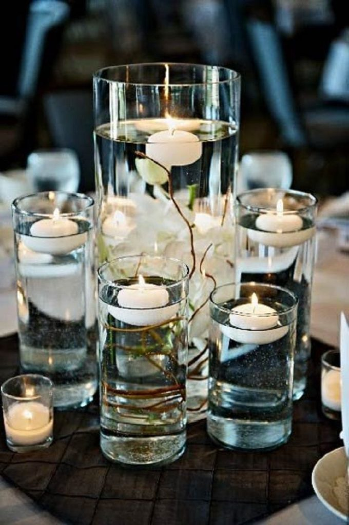 Decoration With Floating Candles