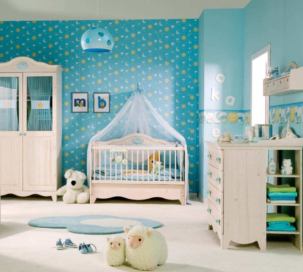 blue room decoration ideas for newborn baby