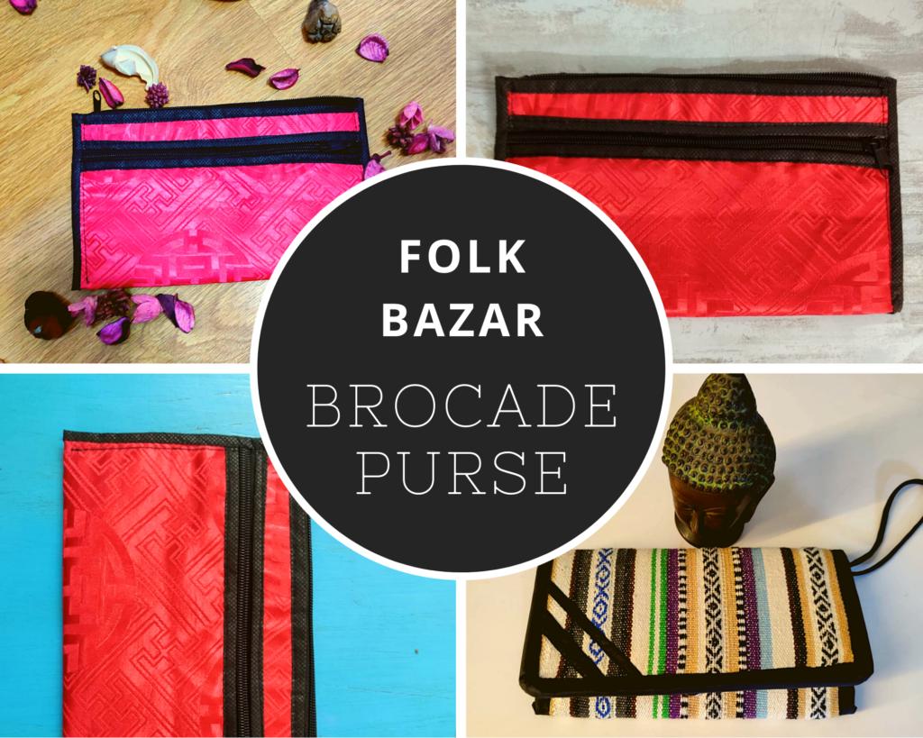 folk bazar review brocade purse