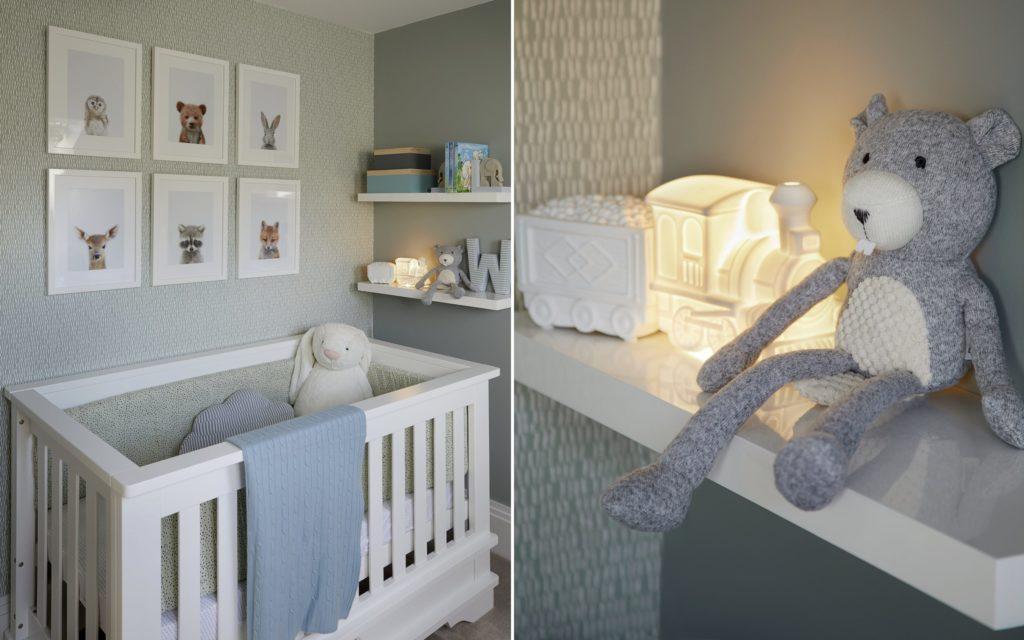 grey chic room decoration ideas for newborn baby