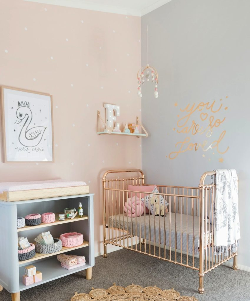 pastel room decoration ideas for newborn baby